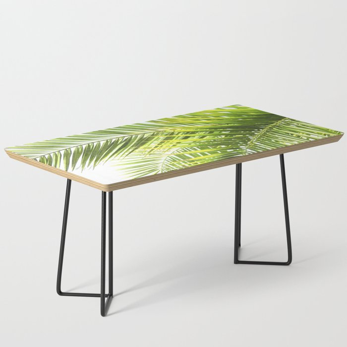 Palm leaves tropical illustration Coffee Table