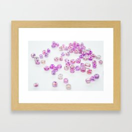 Pink and Purple beads Framed Art Print