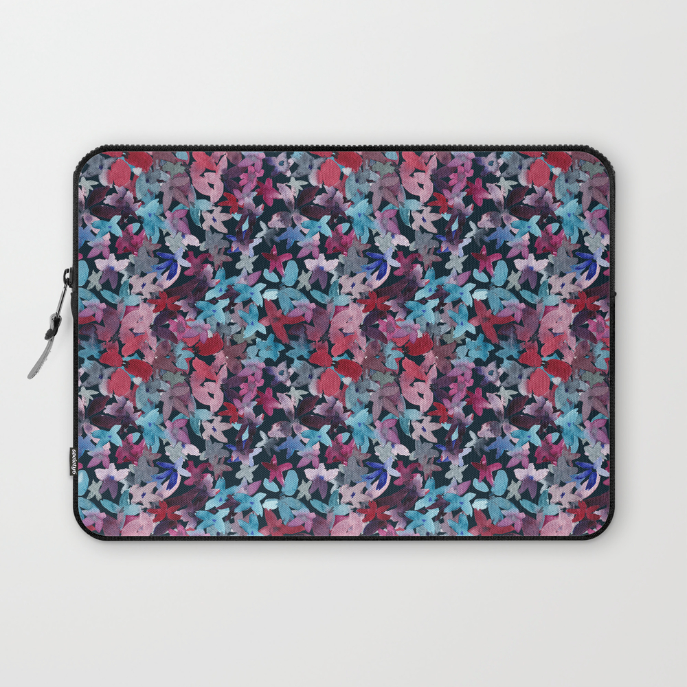 Vibrant Watercolor Floral Laptop Sleeve LSV8490596