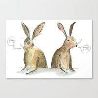 rabbits Canvas Prints featuring Rabbits by ELIZABETH GRAEBER