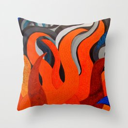 Battle of the Elements: Fire Throw Pillow