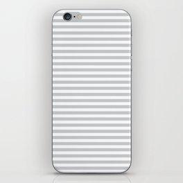 Simple stripes grey. Marine theme iPhone Skin