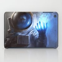 wizard iPad Cases featuring Astronaut Wizard by Jordan Grimmer