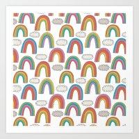 Pattern Project #45 / Rainbows Art Print
