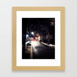 Greenwich Village by Night Framed Art Print