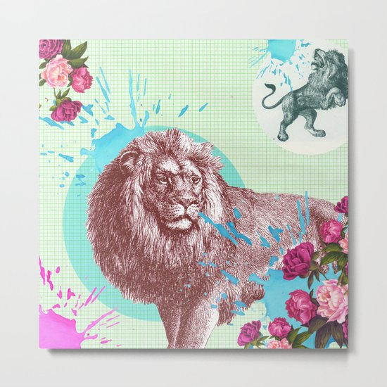 Hear me roar louder! Metal Print
