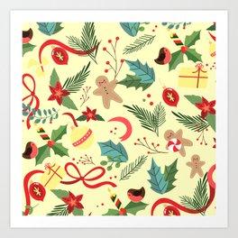Christmas Pattern 4 Art Print