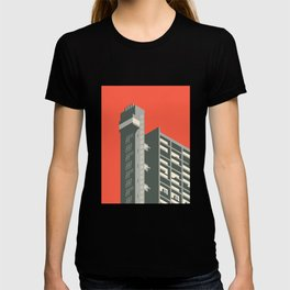 Trellick Tower London Brutalist Architecture - Red T-shirt
