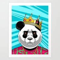 big poppa Art Prints featuring BIG POPPA by Liomal