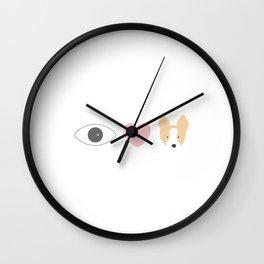 I Heart Corgis Wall Clock