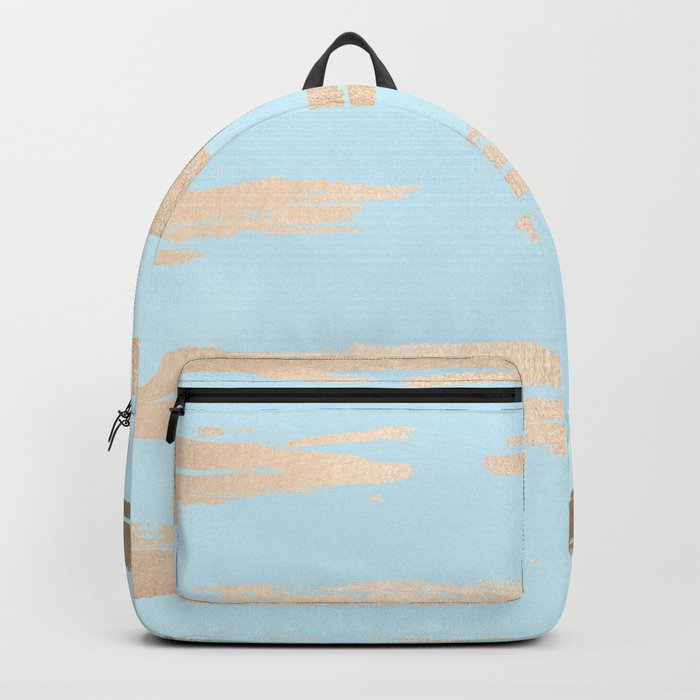 Abstract Paint Stripes Gold Tropical Ocean Sea Turquoise Backpack