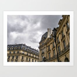 Cloudy Paris Art Print