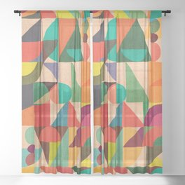 Color Field Sheer Curtain