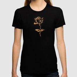 Golden tribal flower T-shirt