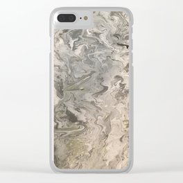 Marble #4 Clear iPhone Case