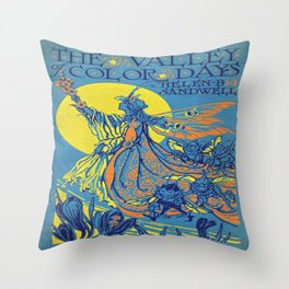 The Valley of Color Days Book Throw Pillow