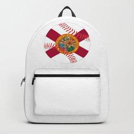 Florida Flag Baseball Backpack