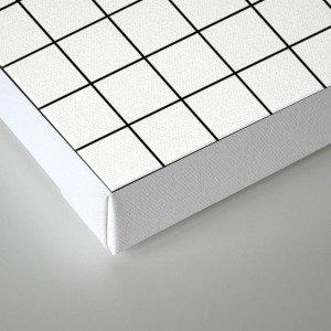 Grid Simple Line White Minimalistic Canvas Print