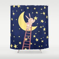 starry night Shower Curtains featuring Starry Night by Roberta Jean Pharelli