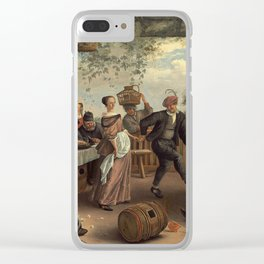 The Dancing Couple Jan Steen Clear iPhone Case