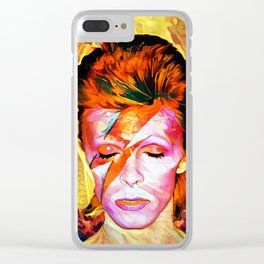 Colorful Bowie Clear iPhone Case