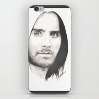 jared leto iPhone & iPod Skins featuring jared leto... by als3