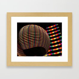 Candy coloured stripes Framed Art Print