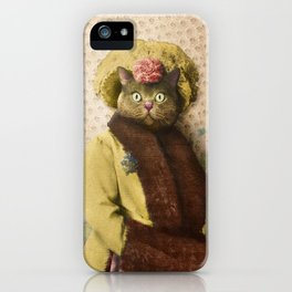 Lady Vanderkat with Roses iPhone Case