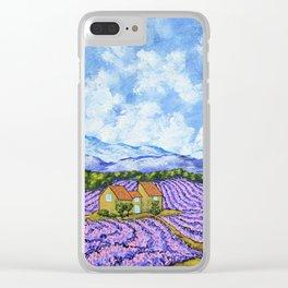Lavender Farm Clear iPhone Case