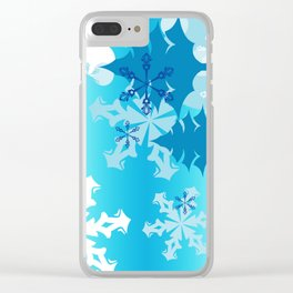 Winter Tree Holiday Clear iPhone Case