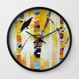 Raven Hanging the Sun Wall Clock