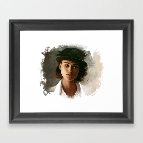 Keira Knightley in hat Framed Art Print