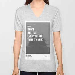 Don't Believe Everything You Think | You are Loved Unisex V-Neck