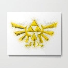 Triforce - Zelda Metal Print