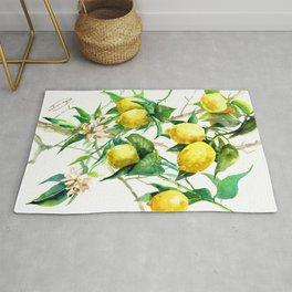 Lemon Tree. lemons kitchen art Rug