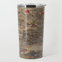 Panoramic view of the Rehe Imperial Palace between 1875-1900 [Rehe xing gong quan tu] Travel Mug