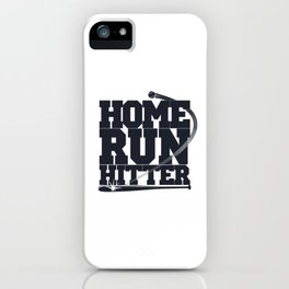 Home Run Hitter Baseball Gift iPhone Case
