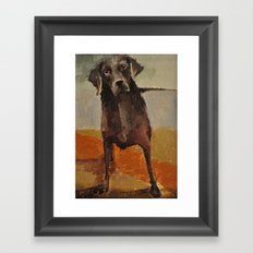 Funny Black Lab Framed Art Print
