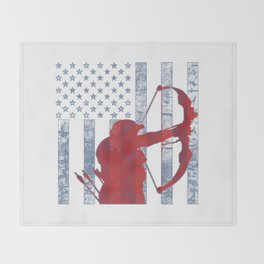 American Bowhunter Throw Blanket