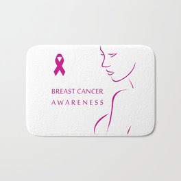 Empowering women to fight breast cancer - Breast cancer awareness Bath Mat