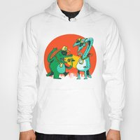 rap Hoodies featuring Kaiju Rap Battle by Morkki
