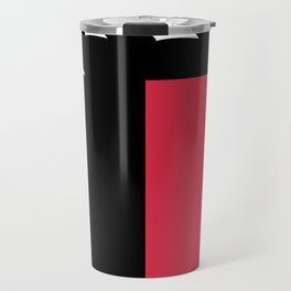 Free as a Seagull - Monochrome/Red Travel Mug