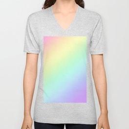 Rainbow Gradient - Pastel Colors Unisex V-Neck
