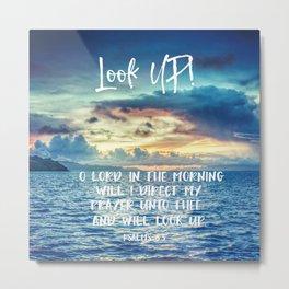 Ocean Sunrise Psalms Prayer Bible Verse Metal Print