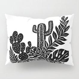 Botanical Pot Block Print Pillow Sham