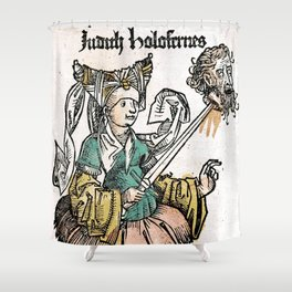 Judith and Holofernes Shower Curtain