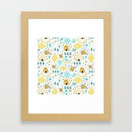 Busy Bees Framed Art Print