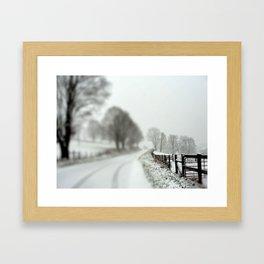 cold fence Framed Art Print