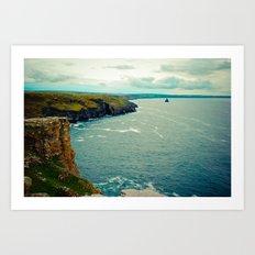 Cornwall Coast Art Print