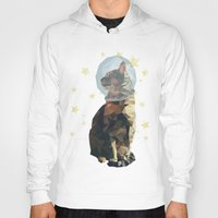 space cat Hoodies featuring Space Cat. by Dani Does Art